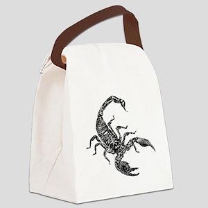 Black Scorpion Canvas Lunch Bag