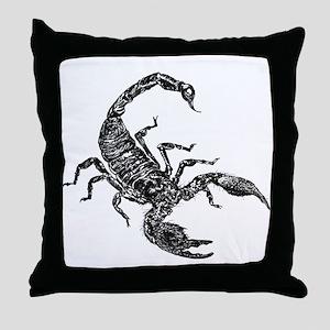 Black Scorpion Throw Pillow