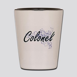 Colonel Artistic Job Design with Flower Shot Glass