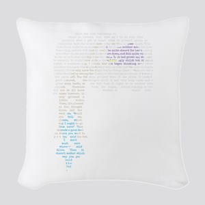 Alice and the Chesire Cat Woven Throw Pillow