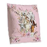 Goats are God's Precious Gifts Burlap Throw Pillow