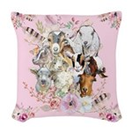 Goats are God's Precious Gifts Woven Throw Pillow