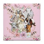 Goats are God's Precious Gifts Tile Coaster