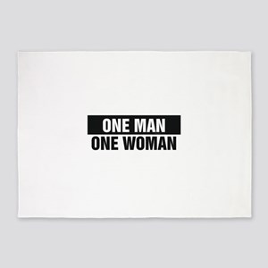 One Man One Woman 5'x7'Area Rug