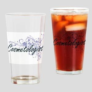 Cosmetologist Artistic Job Design w Drinking Glass