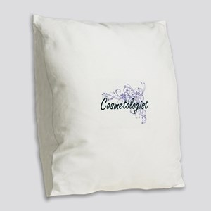 Cosmetologist Artistic Job Des Burlap Throw Pillow