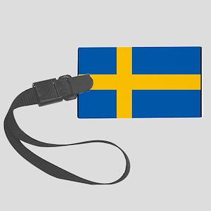 Sweden - Swedish Flag Large Luggage Tag