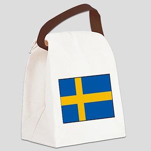 Sweden - Swedish Flag Canvas Lunch Bag