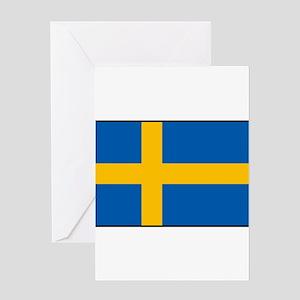 Sweden - Swedish Flag Greeting Cards