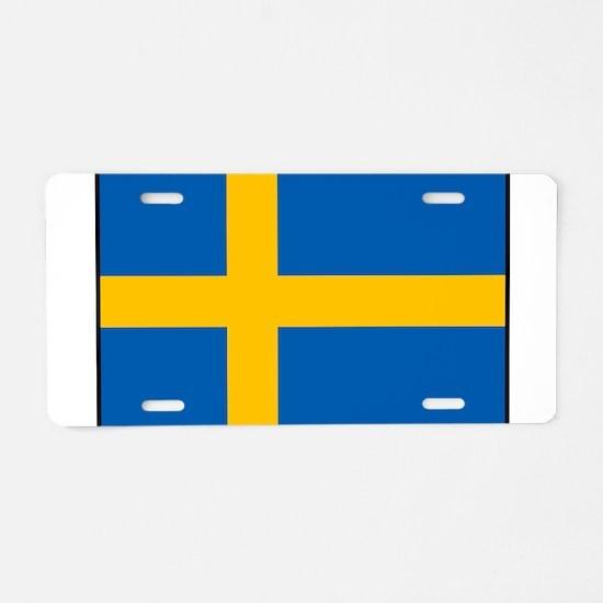 Sweden - Swedish Flag Aluminum License Plate