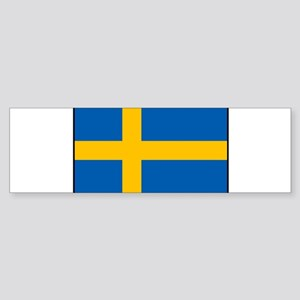 Sweden - Swedish Flag Bumper Sticker