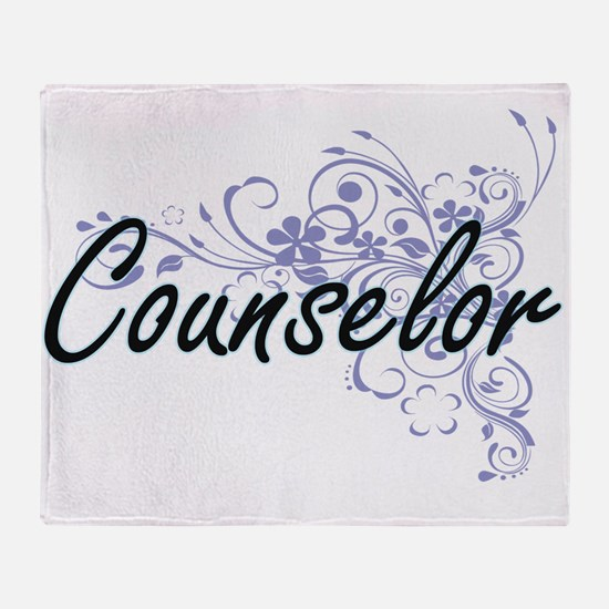 Counselor Artistic Job Design with F Throw Blanket
