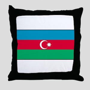 Azerbaijan - Azerbaijani National Flag Throw Pillo