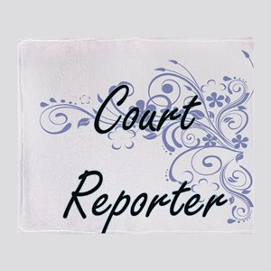 Court Reporter Artistic Job Design w Throw Blanket