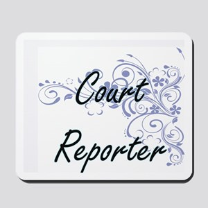 Court Reporter Artistic Job Design with Mousepad