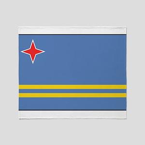Aruba - Aruban National Flag Throw Blanket