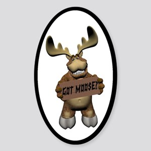 Moose Joy Oval Sticker