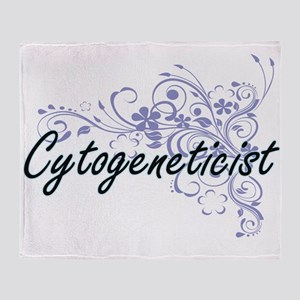 Cytogeneticist Artistic Job Design w Throw Blanket