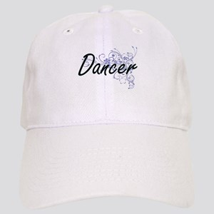 Dancer Artistic Job Design with Flowers Cap