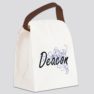 Deacon Artistic Job Design with F Canvas Lunch Bag