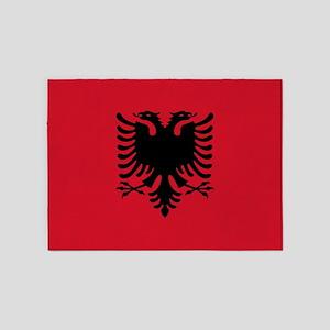 Albania - Albanian Flag 5'x7'Area Rug