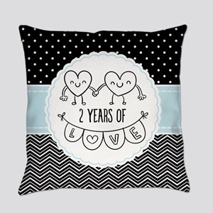 2nd Anniversary Gift For Her Everyday Pillow