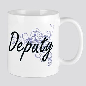 Deputy Artistic Job Design with Flowers Mugs