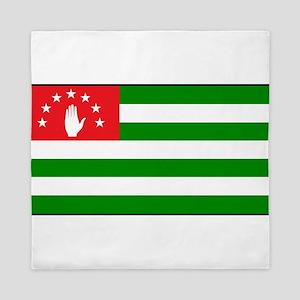 Abkhazia - Abkhazian Flag Queen Duvet