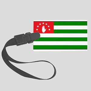 Abkhazia - Abkhazian Flag Large Luggage Tag