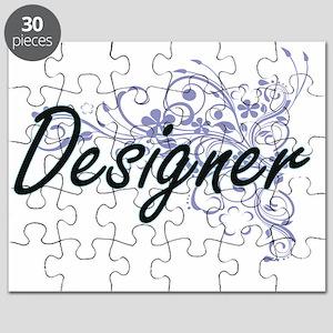 Designer Artistic Job Design with Flowers Puzzle
