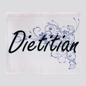 Dietitian Artistic Job Design with F Throw Blanket