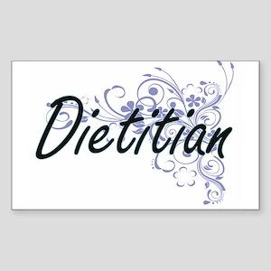 Dietitian Artistic Job Design with Flowers Sticker