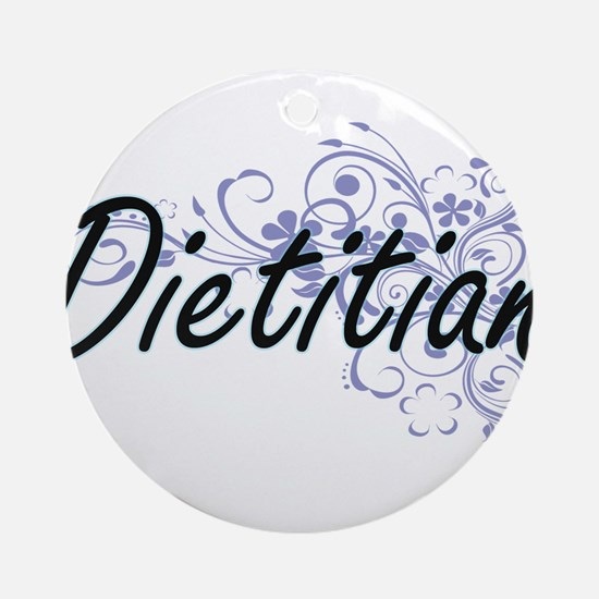 Dietitian Artistic Job Design with Round Ornament