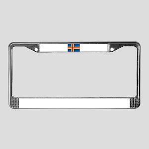 Aland Flag License Plate Frame