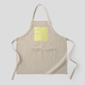 Yellow White Gingham Plaid Apron