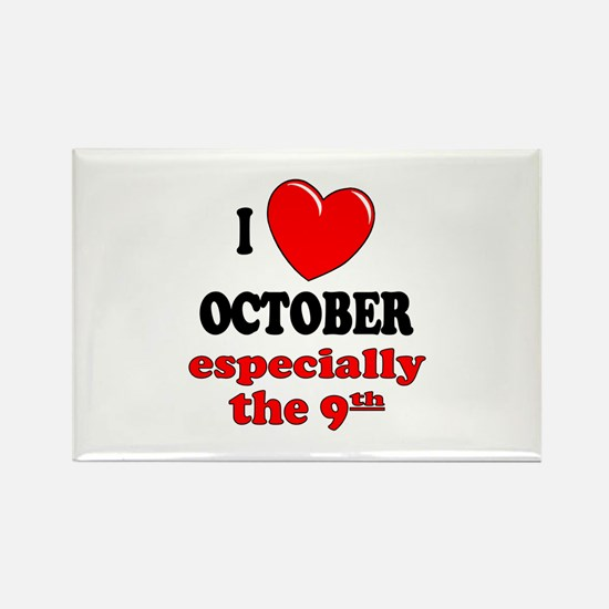 October 9th Rectangle Magnet