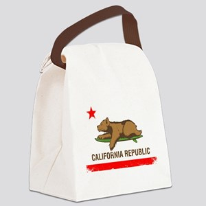 Surfing CA cub Canvas Lunch Bag