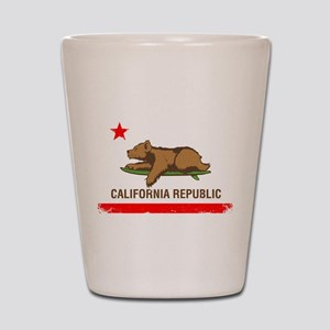 Surfing CA cub Shot Glass