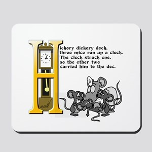 Hickory Dickory Dock Mousepad