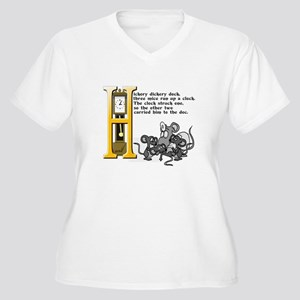 Hickory Dickory D Women's Plus Size V-Neck T-Shirt
