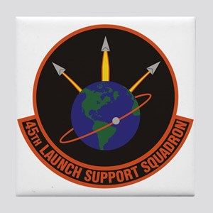 45th Launch Support Sqdrn Crest Tile Coaster