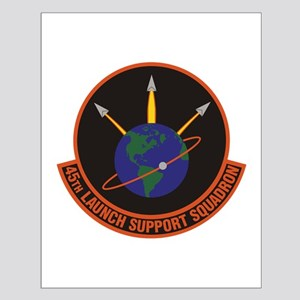 45th Launch Support Sqdrn Crest Small Poster