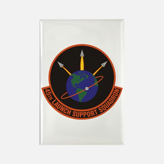 45th Launch Support Sqdrn Crest Rectangle Magnets