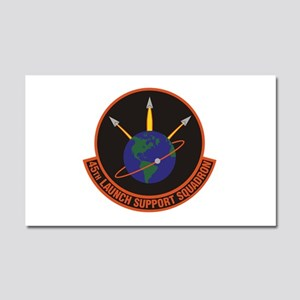 45th Launch Support Sqdrn Crest Car Magnet 20 x 12