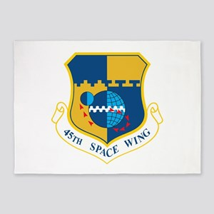 45th Space Wing Crest 5'x7'Area Rug