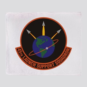 45th Launch Support Sqdrn Crest Throw Blanket