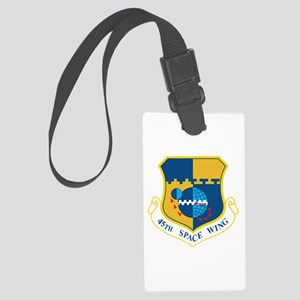 45th Space Wing Crest Large Luggage Tag