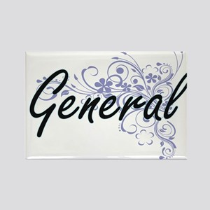General Artistic Job Design with Flowers Magnets
