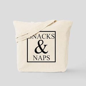 Snacks & Naps Tote Bag