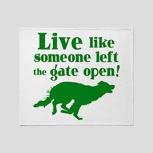 OPEN GATE Throw Blanket